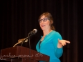 Davie, Florida—05-14-15—Photo by Joshua Prezant--Actor and writer Mayim Bialik speaks to a packed house at the Posnack Jcc in Davie with over 530 people in attendance.  An Evening with Mayim presented by Temple Beth Israel of Sunrise, FL.